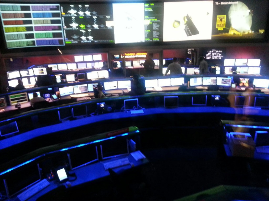 Mission Control at the Jet Propulsion Laboratory (JPL)