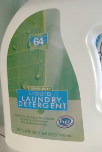 Greywater friendly detergent from Trader Joe's