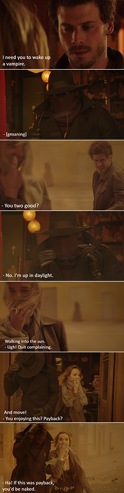Photo strip of Lemuel and Olivia from Midnight Texas TV show